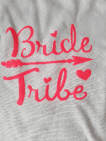 Ladies white hen party ( Bride tribe ) printed t-shirt